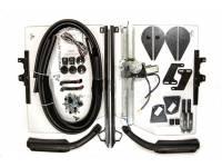 Стекла двери кабины на УАЗ 452 Буханка сплошное (цельное) с электро стеклоподъемником